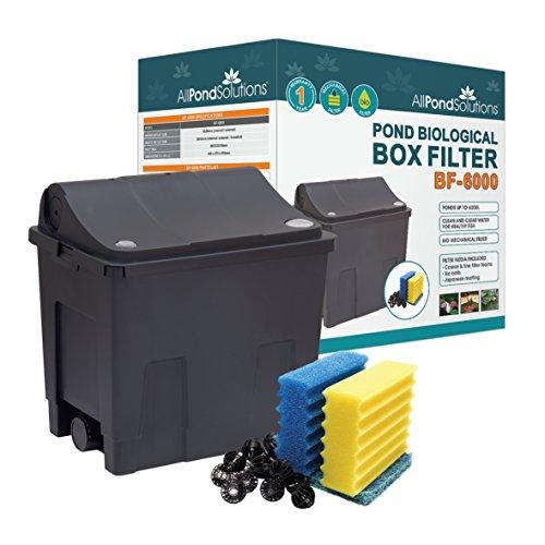 All Pond Solutions Koi/Goldfish - Caja de Filtro para Estanque (pequena, 6000 L)