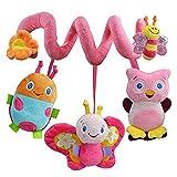 Juguete musical de la cuna de PULABO, cochecito de bebé que cuelga el juguete espiral de la felpa del juguete popular