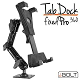 """iBOLT TabDock FixedPro 360 -Heavy Duty Metal 8"""" Multi-Angle Drill Base Mount for All 7"""" - 10"""" Tablets (iPad, Nexus, Samsung Tab) for Trucks, ELD's, Wall mounting, Countertops, etc."""