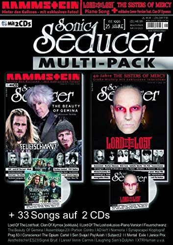 Sonic Seducer Multipack inkl. 40 Jahre Sisters Of Mercy + Titelstories zu Lord Of The Lost , Feueschwanz, The Beauty Of Gemina + 33 Songs auf 2 CD's + ... Boulevard Sticker, im Mag: Rammstein uva.