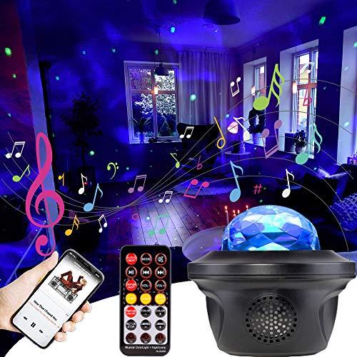Proiettore a Luce Stellare,Luce Notturna Bambini,Lampada LED Proiettore a Cielo Stellato con Bluetooth Musicale,Lampada Proiettore Galassia Stelle con Timer Telecomando Altoparlante per la Casa Regalo