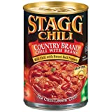 Stagg Country Chili with Beans 15oz (Pack of 12) Mild Chili w/ Sweet Bell Peppers