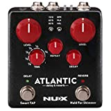 NUX Atlantic Multi Delay and Reverb Effect Pedal with Inside Routing and Secondary Reverb Effects