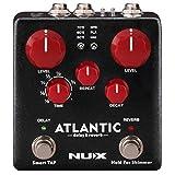 NUX Atlantic Multi Delay und Reverb Effektpedal mit Innenrädern und sekundären Reverb Effekten