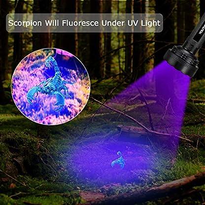 YOUTHINK UV Torch, 100 LED UV Flashlight with UV Protection Glasses, 395nm Upgraded 100 LED Flashlight Black Light Ultraviolet Lamp, Dog Cat Urine Detector, for Carpet/Floor 6