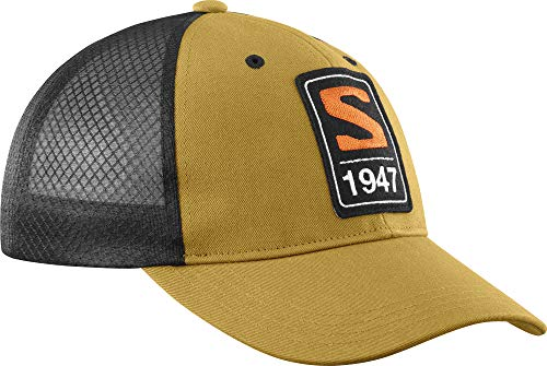 Salomon Standard Trucker Curved Cap, Cumin/Black, Medium-Large