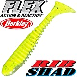 'Berkley Flex Rib Shad 2,5 6,5 cm Lime 5 pezzi im Set.