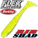 'Berkley Flex Rib Shad 2,56,5cm Lime 5pezzi im Set.