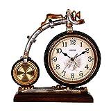 KGDC Reloj de Mesa Reloj de la Mesa de Resina Retro de 13.3 Pulgadas usada para la Sala de Estar decoración Reloj de Escritorio en el Reloj de Mesa arábiga con termómetro Relojes de Escritorio