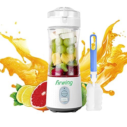 Firwing Portable Blender,13 Oz Personal Blender Juicer for Smoothies and Shakes, USB Rechargeable with Six Blades Powerful Performance, On the Go Blender Waterproof