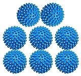XIEHE Dryer Balls 8 Pack - 2.7 Inch Non-Toxic Reusable Dryer Balls