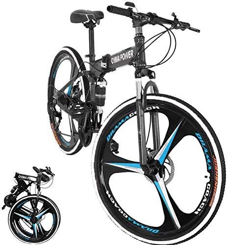 GLE2016 Folding Bike Front Basket Rust Proof Detachable Folding Rear Bike Basket with Handles Easy Installation on Front Handlebar for Mountain Bike Accessories Bike Frame Basket