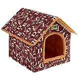Cesta para Mascotas Hecha de Felpa 5 Colores Diferentes y 4 tamaños - Lavable y a Prueba de arañazos casa para los Perros y Gatos (Style 2, XL (50x42x50cm))