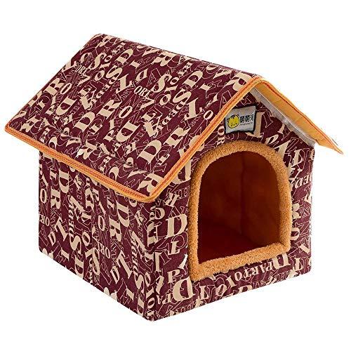 Cesta para Mascotas Hecha de Felpa 5 Colores Diferentes y 4 tamaños - Lavable y a Prueba de arañazos casa para los Perros y Gatos (Style 2, S (33x28x35cm))
