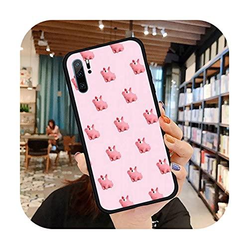 Phone cover Linda historieta cerdo divertido teléfono casos para Huawei para Honor Mate P 9 10 20 30 40 Pro 10I 7 8 A X Lite Nova 5T silicona suave Funda-A7-para Huawei P40Pro
