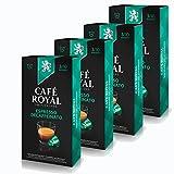 CAFÉ ROYAL Espresso Deca ffeinato Café, Café, Cápsulas de Café Tostado, Compatible con Nespresso, 40Cápsulas