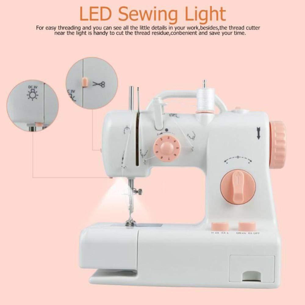 FHSM-318 Mini máquina de coser Luz incorporada Máquina de ...