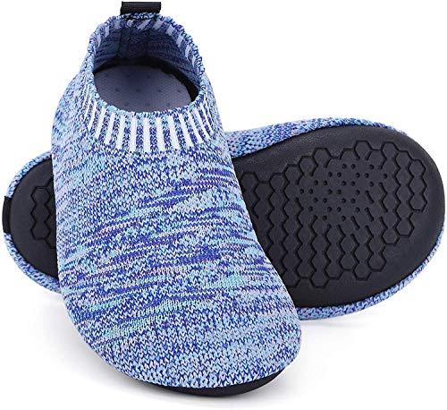 Msrlassn Hausschuhe Kinder Junge mädchen rutschfeste Leichte Pantoffeln für Kleinkinder Hüttenschuhe Slipper Unisex (Blau, Numeric_30)