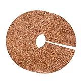 Hotaden Palma de Coco Plana Mat, mantillo Anillo Protector Planta Mats, 30 * 30 * 0.6cm 3pcs Brown Plana jardinería Tiesto Fibra Mat