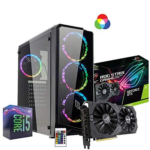 Pc desktop gaming completo Intel i5 9400 4.1ghz / Asus Rog Strix Gtx 1650 Gaming 4gb Ddr5/ Ram Ddr4 8gb/ Ssd M.2 120gb + Hdd 1tb / Wifi - Windows 10/ Computer da gaming assemblato/Pc gaming i5