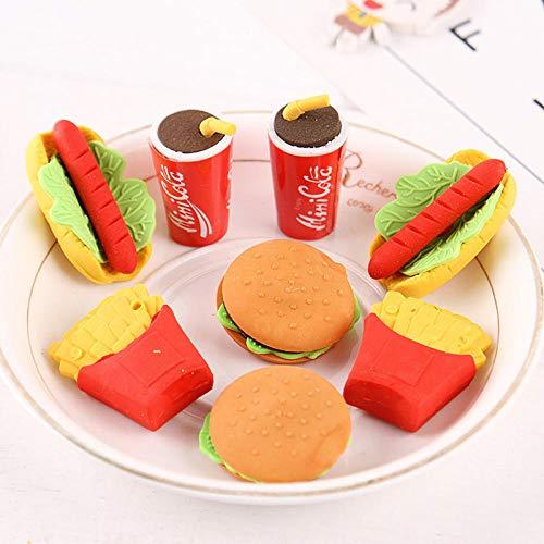 1pc voedsel drank cola hamburger gummen pakket fruit rubber gum potlood correctie briefpapier