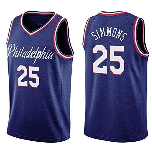 LHYAN Jersey Baloncesto (Ben Simmons # 25) Baloncesto Jersey de Secado rápido Unisex Hombre de Deportes al Aire Libre for los Regalos for los niños y la Camiseta (Color : C, Size : XL)