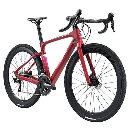 SAVADECK R11 Bici da strada carbonio, 700x40C Gravel bike Bicicletta carbonio Ciclocross con Shimano R8070 freno a disco e ULTEGAR R8000 22 marce Bici da strada per uomo e donna