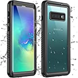Redpepper Samsung Galaxy S10 Plus Waterproof Case, Built in Screen Protector 360°Full Body Protective Shockproof IP68 Waterproof Case for Samsung Galaxy S10 Plus(6.4inch)-Black