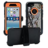 AlphaCell Cover Compatible with iPhone SE 2020 (2nd gen) / 8/7 (NOT Plus)   2-in-1 Screen Protector & Holster Case Full Body Protection with Carrying Belt Clip   Protective Drop-Proof Shock-Proof