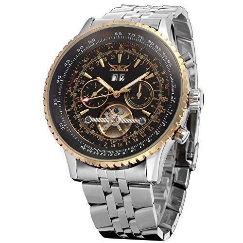 Forsining Men's Automatic Tourbillon Complete Calendar Wrist Watch JAG034M4T2