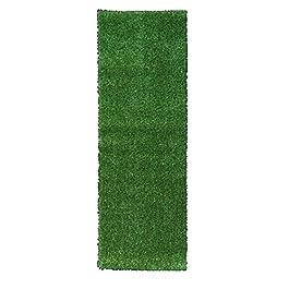 Sweethome Meadowland Collection d'intérieur et d'extérieur Vert Artificiel Gazon Zone Tapis 50,8x 149,9cm Vert Gazon Artificiel/Tapis pour Animal Domestique avec Dos en Caoutchouc