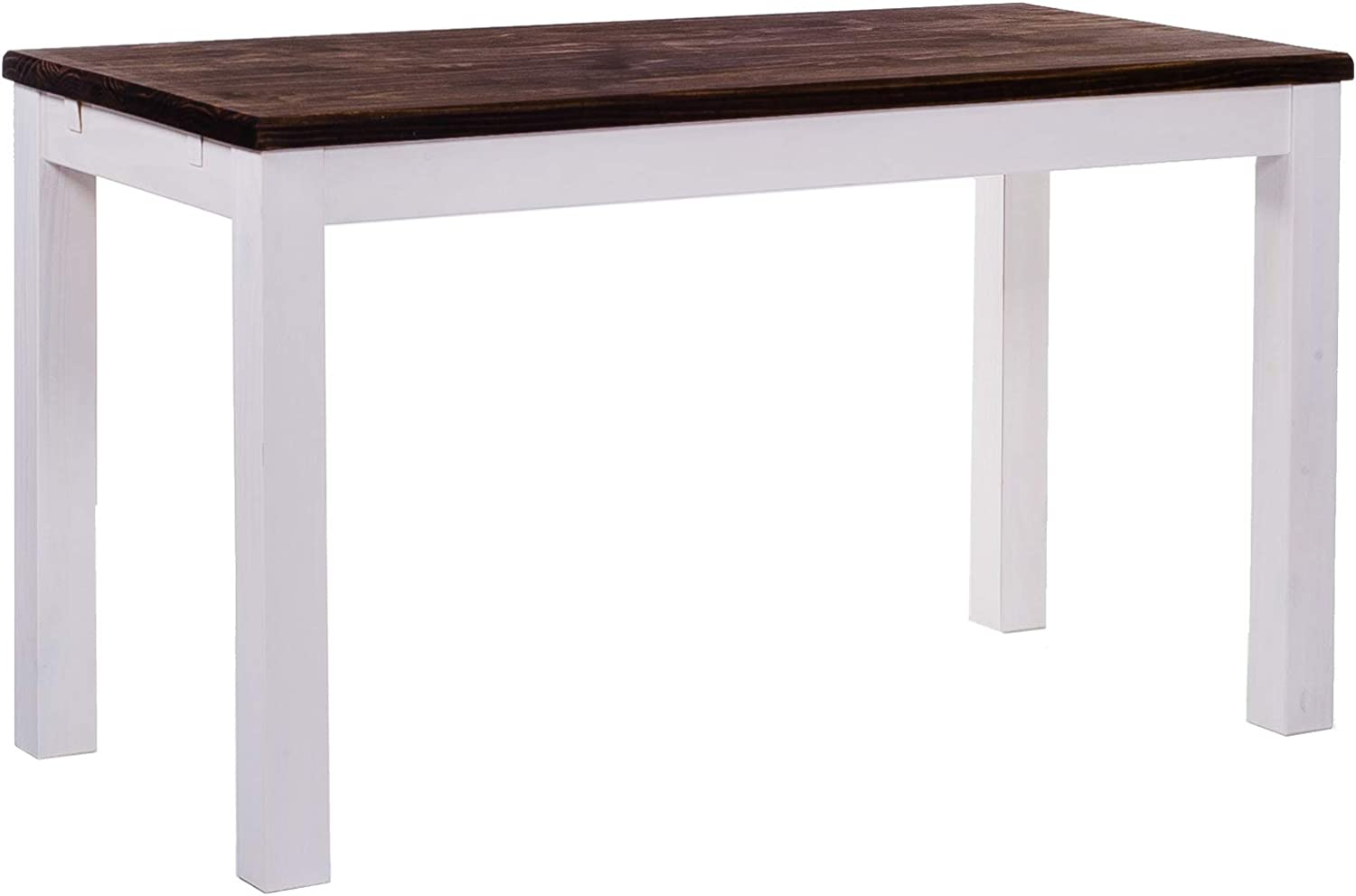 TableChamp Dining Table Rio 47 x 30 Oak Antique White Solid Wood Pine Oiled Extension Extendable