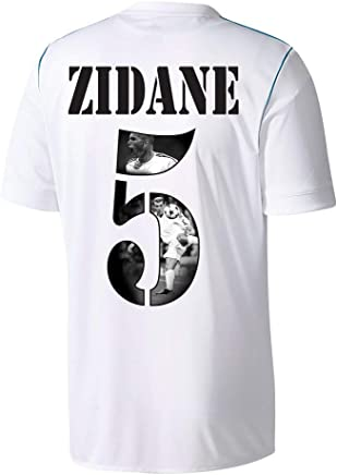 Adidas Real Madrid Home Zidane 5 Shirt 2017 2018 (Gallery Style Printing)