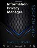 """Image of Information Privacy Manager Certification Exam Preparation Notebook, examination study writing notebook, Office writing notebook, 140 pages, 8.5"""" x 11"""", Glossy cover, Black Hex"""
