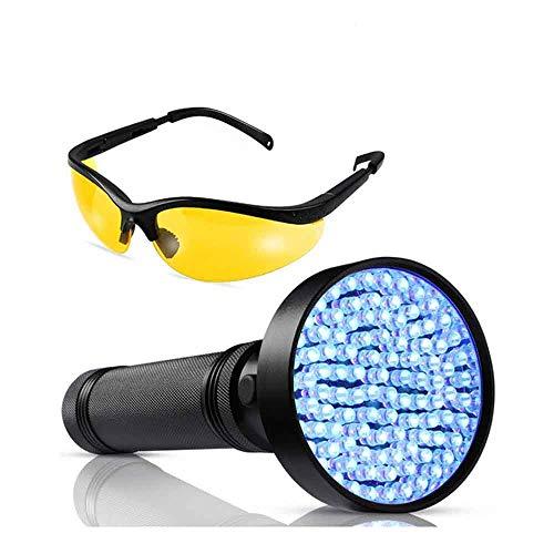 Preisvergleich Produktbild Youyababay 2-in-1 LED-Taschenlampe UV Lampe,  100 LED Pet Urin Detector 395nm UV-Licht Scorpion Light Torch Lampe