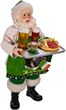 Kurt Adler Kurt S. Adler 10.5-Inch Fabriché Musical Irish Chef Santa, Multi