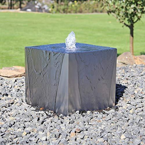 CLGarden Edelstahl Würfelbrunnen EWB35 Springbrunnen Design Set Würfel Gartenbrunnen Wasserspiel