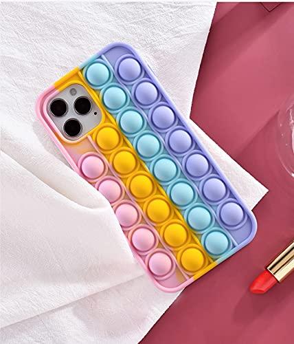 N\C YXKJ - Cover Compatibile con Samsung Galaxy A12 / M12, [Decompressione] Custodia Morbida in Silicone 3D Cover Antistress con Bolle Sensoriali - Colore
