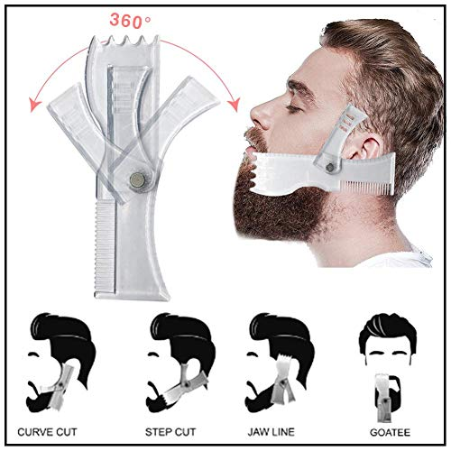 Plantilla herramienta modelado barba: vello facial