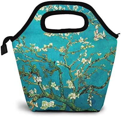 Britimes Small Lunch Bags For Women Insulated Carrying Flower Lunch Bag Designer Oil Paintings product image