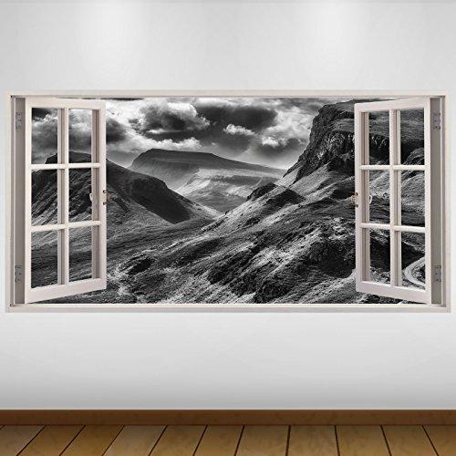 LagunaProject Extra Grande Paisaje de Las montañas Gris Naturaleza Vinilo 3D Póster...