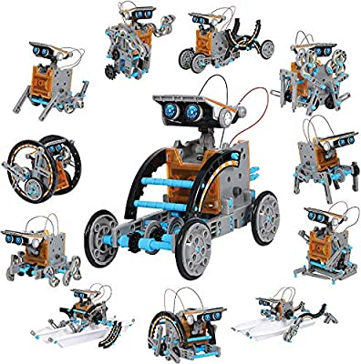 Guffo 12-in-1 Educational Solar Robot Kit, STEM Science DIY Solar Building Assembly Kit, 190 Pieces Suitable for 8-14 Year Old Boys, Girls, Children, Teenagers Entertainment and Birthday Gifts.