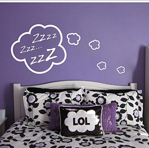 Sleepy Clouds Schlafzimmer Wandaufkleber Kinderzimmer Schlafzimmer Home Decoration Wandkunst Wandbild für Baby Kids Adhesive Wallpaper 56X75Cm
