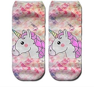Low Cut Ankle Socks Unicorn Print - Unicorns 1 pair