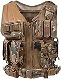 Hotour Equipo Militar Air Gun Chaleco táctico Chalecos de protección para Hombre para Acampar al Aire Libre Caza Pesca Senderismo Airsoft War Game Combat Training CS Paintball Shooting Chalecos