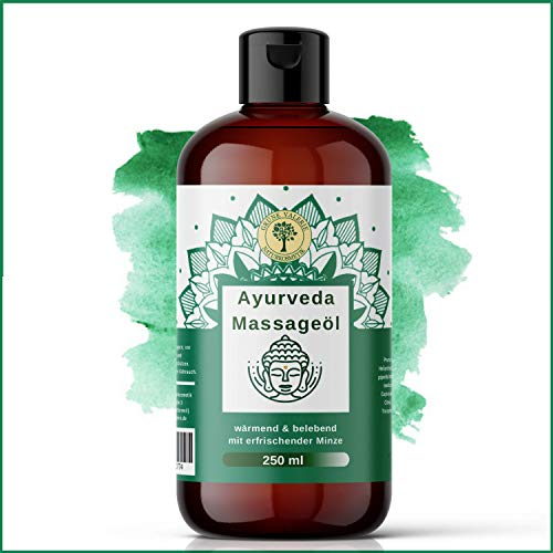 Ayurvedisches Massageöl 250 ML mit entkrampfendem Pfefferminz | XL von Grüne Valerie | Besonders geeignet zur Muskelentspannung, bei Rückenschmerzen und nach dem Sport | Relax! |Made in Italy