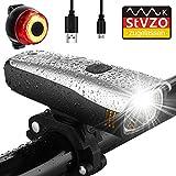 Antimi Fahrradlicht Led Set, LED Fahrradbeleuchtung mit 2 Licht-Modi, StVZO-Zulassung, Frontlicht...