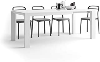 MOBILI FIVER, Table Extensible Cuisine, Giuditta, Frêne Blanc, 140 x 90 x 75 cm, Mélaminé, Made in Italy