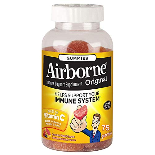 Airborne Gummies Blast of Vitamin C 75 Gummies (Pack of 3)