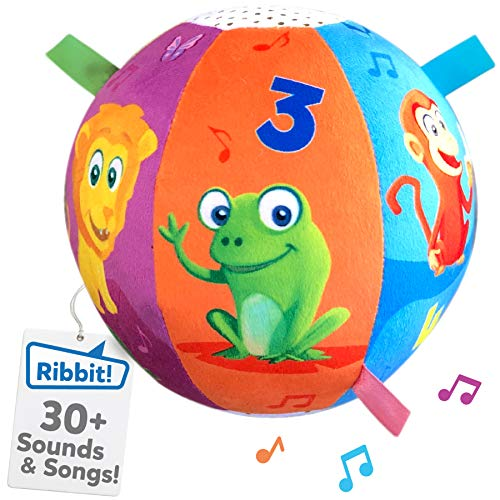 Move2Play Interactive Animal Sounds Crawl Ball Toy for Babies and Toddlers, Baby Ball for Ages 6 Months to 1, 2 Year Old boy and Girls